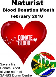 Naturist Blood Donation Month - All of February